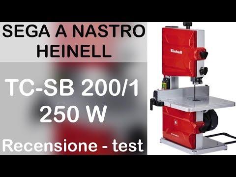 Sega a nastro EINHELL TC-SB 200/1 250w. Recensione e test. dimostrazione dell'utilizzo