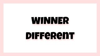 Winner(위너) - Different [hangul,romanization,english sub]
