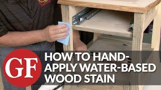 How To Apply Water-Based Wood Stain | Hand Application | General Finishes