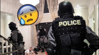 WE RAIDED OUR FRIENDS HOUSE PARTY IN SWAT GEAR (REAL COPS COME)