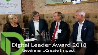 "Digital Leader Award 2018 - Platz 2 in der Kategorie ""Create Impact"""