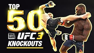EA SPORTS UFC 3 TOP 50 KNOCKOUTS - Community KO Video ep. 3