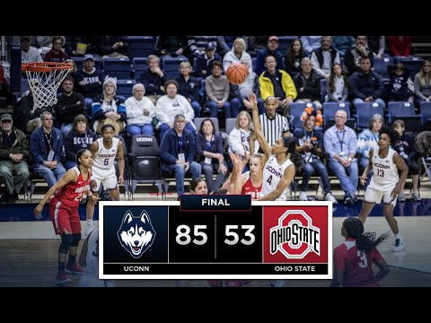 UConn Women's Basketball Highlights v. Ohio State 11/11/2018