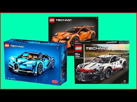 Bugatti Chiron LEGO TECHNIC Cars 42083  42056 Porsche 911 + 42096 Porsche