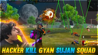 God Level Hacker Killed Gyan Gaming Squad😭😭 Gyan Gaming Angry Reaction🤬 | Garena Free Fire