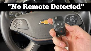 2014 - 2020 Chevy Impala No Remote Detected - How to Start With Dead, Bad, Broken Key Fob Chevrolet