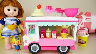 Baby Doll Ice Cream Car Toy And Play Doh Play With Poli Pororo