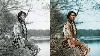 Colorized Historical Photos Of American Indians In The Early 1900s