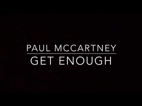 Get Enough (Piano Karaoke Instrumental) Paul McCartney