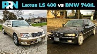 Lexus LS 400 vs BMW 740iL | TestDrive Showdown