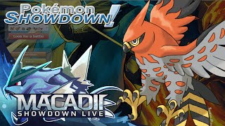 Talonflame and Mega Pidgeot Live w. macadii (Pokemon Showdown Smogon ORAS OU Team)