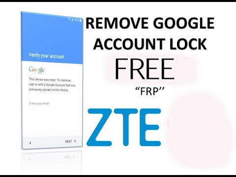 HOW TO REMOVE BYPASS GOOGLE LOCK ZTE Z835 (FRP) ANDROID 7 1 1