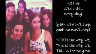 Cimorelli - The Way We Live {Lyrics}