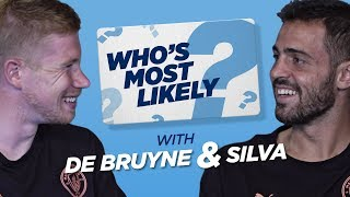 100m SPRINT RACE?! | WHO'S MOST LIKELY? | DE BRUYNE & BERNARDO SILVA