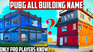 only pro players know this | pubg mobile Erangel all building name | part 1