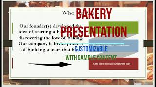 Bakery business presentation - PPT Pitch Deck & Info Slides