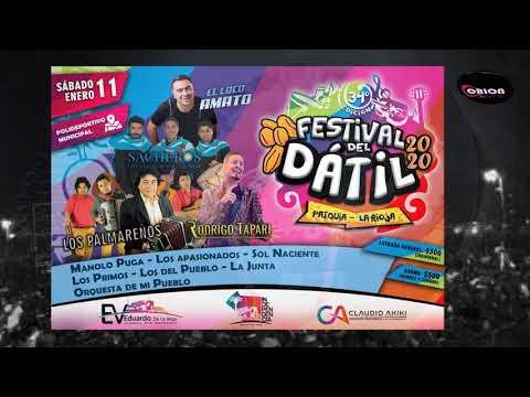 Patquía: El Festival del Dátil 2020 - Grilla de artistas.