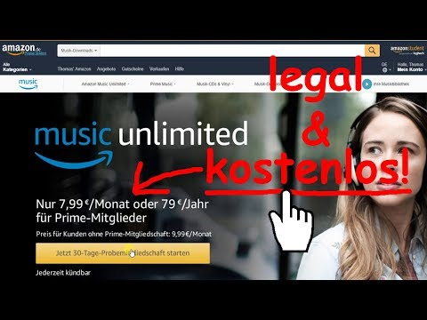 Tipp: Kostenlos Musik von Amazon Music Unlimited streamen, downloaden & offline: LEGAL