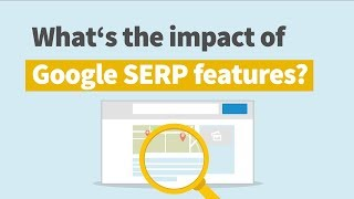 Analyze Google SERP features impact on the organic search results