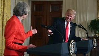 President Donald Trump and British PM Theresa May. Joint News Conference. Jan 27. 2017.