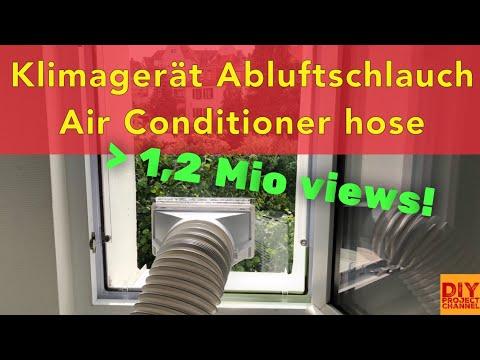 Klimaanlage Abluftschlauch, Klimagerät Fensterdurchführung, DIY AirLock Hot Air Stop