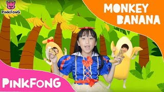 MONKEY BANANAS CHALLENGE DANCE ALONG | song for toddlers| animal song #babysharkdancechallenge