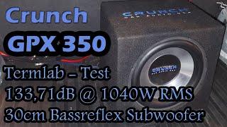 Crunch GPX 350 Subwoofer 30cm Bassreflex Opel Combo C Termlab DB Messung Ground Zero GZCA 5.0SPL-M1