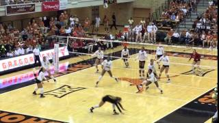 UT Amy Neal hits line