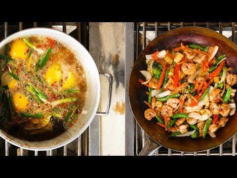Asian Shrimp Boil & Vegetable Stir-Fry Recipe