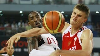 Russia vs USA 2008 Olympics Men's Basketball Exhibition Friendly Match FULL GAME English
