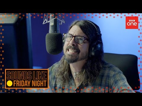 Dave Grohl does impressions of British voiceovers: Sounds Like Friday Night - BBC One