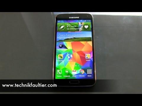 Samsung Galaxy S5 S Health Test Schrittzähler und Herzschlag