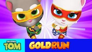 NEW in Talking Tom Gold Run - Superheroes Run Faster (Gameplay)
