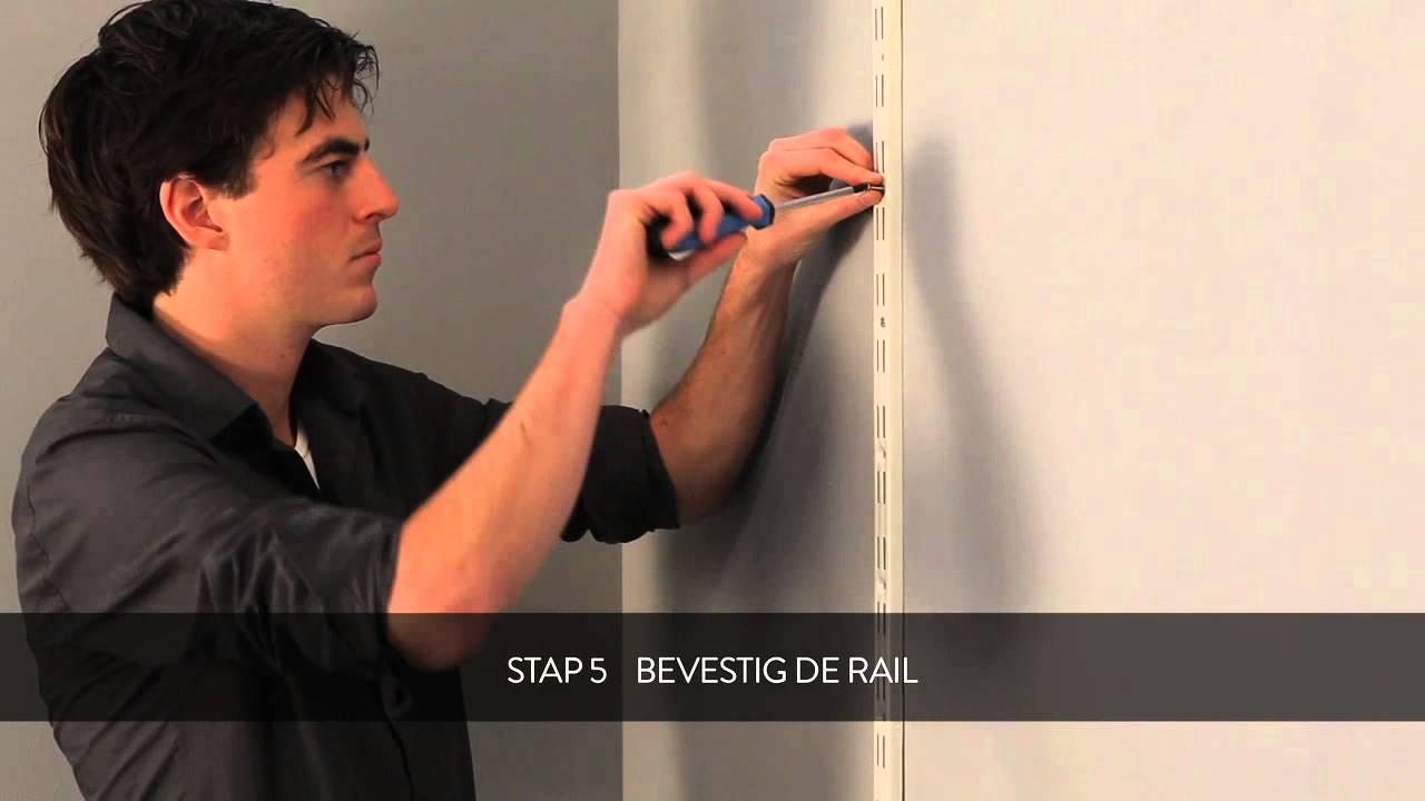 HOW TO: Duraline dubbele rail, dubbele drager en paneel monteren