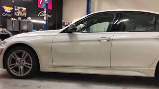 2017 BMW 330i Carbon Fibre Roof and Mirror Wrap
