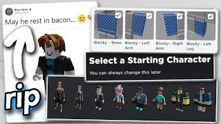 Roblox Removed Another Feature... goodbye bacon hairs