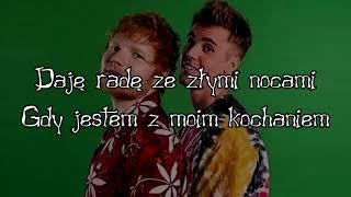 Justin Bieber & Ed Sheeran    I Don't Care (TŁUMACZENIE PL) Napisy Polskie