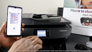 HP ENVY PHOTO 7830 HOW TO SCAN YOUR DOCUMENT, PRINT AND SHARE TO DIGITAL PLATFORMS  VIA HP SMART APP
