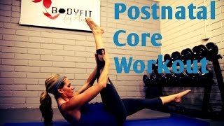 12 Minute Postnatal Core Workout---Abs Workout for After Pregnancy or C Section