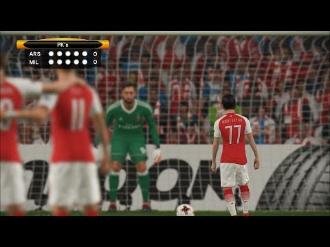 TINNY players Arsenal vs GIANT players AC Milan I UEL Round of 16 2nd Leg I PES 2018 Fantasy Penalty