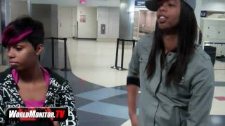 EXCLUSIVE: Bed intruder 'Antoine Dodson' and his sister Kelly arriving at LAX