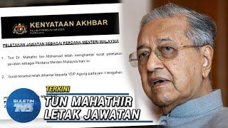 Perdana Menteri, Tun Dr Mahathir Mohamad meletak jawatan pagi tadi. Timbalan dan Naib Presiden PKR, pula dipecat dalam satu sidang media oleh Setiausaha parti itu sebentar tadi. Presiden Bersatu pula, menerusi laman Facebook rasmi beliau mengesahkan pengunduran Bersatu dari Pakatan Harapan.