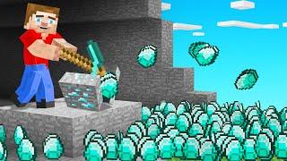 Every BLOCK You Break MULTIPLIES In MINECRAFT! (millions of diamonds)