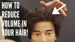 How to REDUCE Volume in your Hair - TheSalonGuy