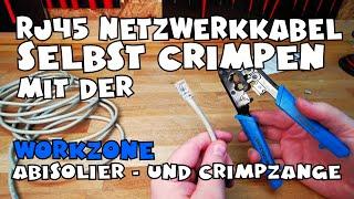 Netzwerkkabel crimpen mit der WORKZONE Abisolier- und Crimpzange