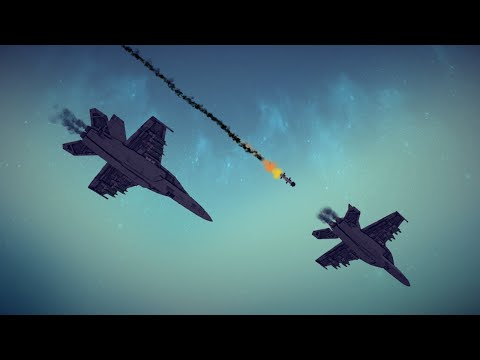 Spectacular Airplane Crashes, Shoot Downs, Midair Collisions and More #8   Besiege