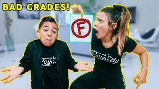 TELLING MY MOM I GOT BAD GRADES! *BAD REACTION* | The Royalty Family