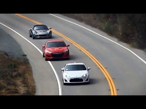 FRS (GT86, BRZ) vs Genesis Coupe vs Lotus Elise – PCH Road Trip Review