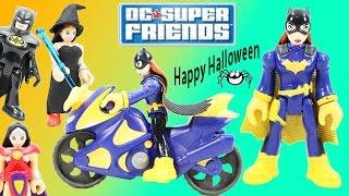 DC Super Friends Batgirl & Cycle has a funny Halloween Adventure with Batman & Green Lantern!