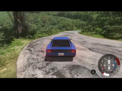 Car Driving Off The Cliff Into Sea... BeamNG-(Jungle Rock Island)